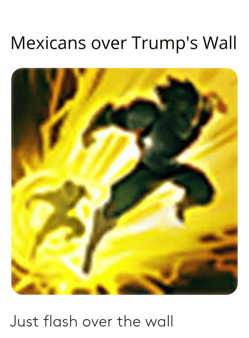 Trumps Wall: Mexicans over Trump's Wall Just flash over the wall