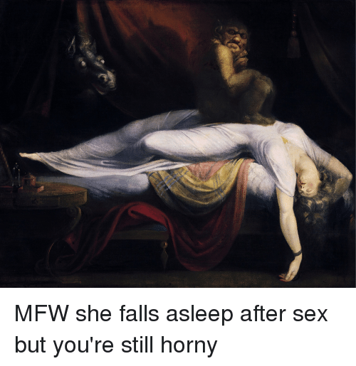 after asleep fall man sex why