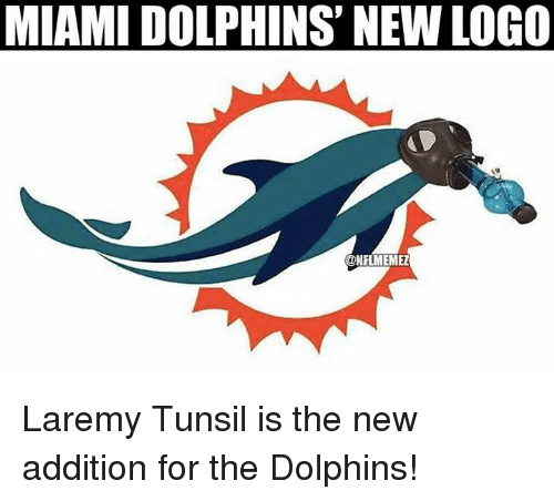 Nfl, Miami Dolphins, and Dolphins: MIAMI DOLPHINS NEW LOGO  ONFLMEMEZ Laremy Tunsil is the new addition for the Dolphins!