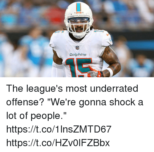 """Memes, Miami Dolphins, and Dolphins: MIAMI  Dolphins The league's most underrated offense?  """"We're gonna shock a lot of people."""" https://t.co/1lnsZMTD67 https://t.co/HZv0lFZBbx"""