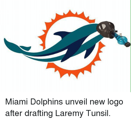 Miami Dolphins, Dolphins, and Laremy Tunsil: Miami Dolphins unveil new logo after drafting Laremy Tunsil.