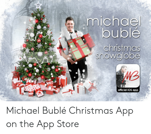 michael buble christmas: michael  buble  christmas  snowglobe  official iOS app Michael Bublé Christmas App on the App Store