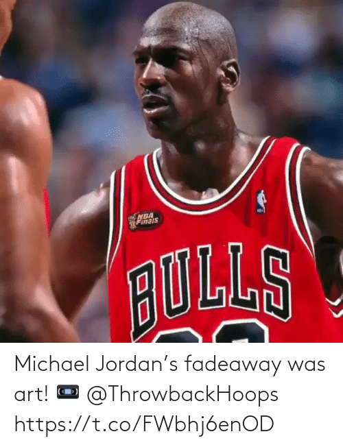 Jordan: Michael Jordan's fadeaway was art!   📼 @ThrowbackHoops   https://t.co/FWbhj6enOD