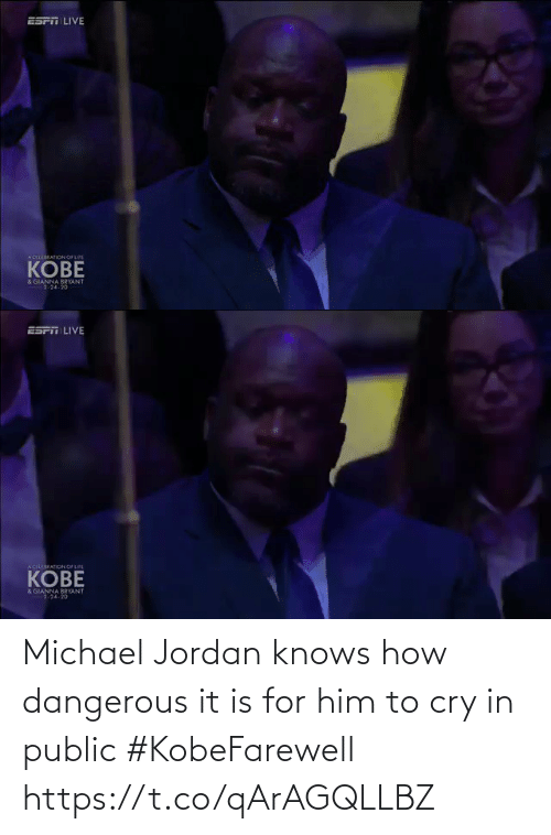 Jordan: Michael Jordan knows how dangerous it is for him to cry in public #KobeFarewell https://t.co/qArAGQLLBZ