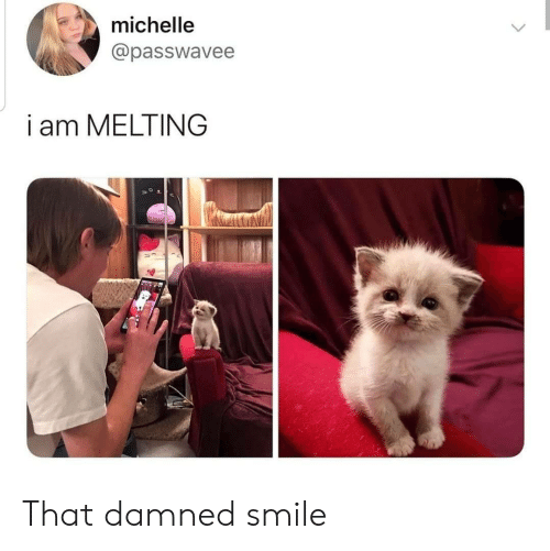 michelle: michelle  @passwavee  i am MELTING That damned smile