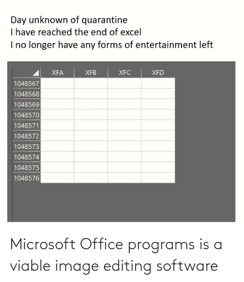 Microsoft Office: Microsoft Office programs is a viable image editing software