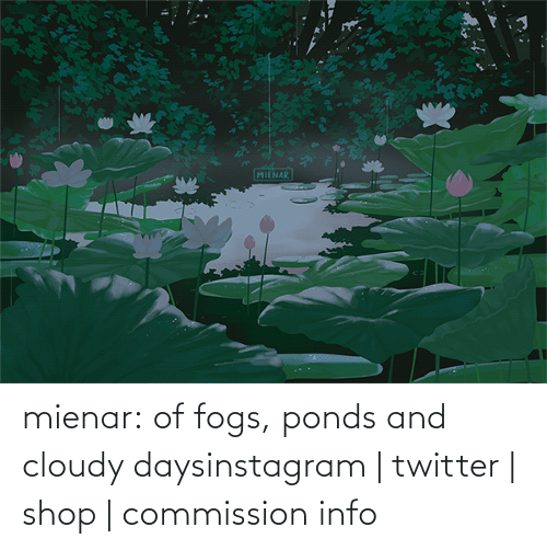 Commission: mienar:  of fogs, ponds and cloudy daysinstagram | twitter | shop | commission info