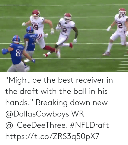 """breaking down: """"Might be the best receiver in the draft with the ball in his hands.""""  Breaking down new @DallasCowboys WR @_CeeDeeThree. #NFLDraft https://t.co/ZRS3q50pX7"""