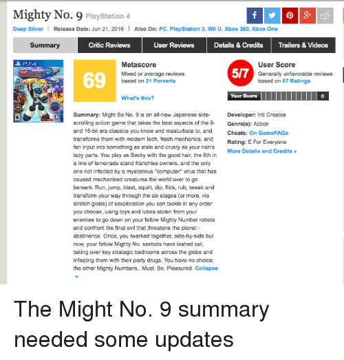 Mighty number 9 release date in Brisbane