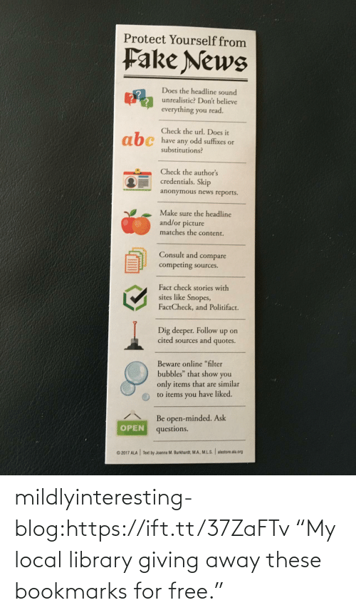 "Library: mildlyinteresting-blog:https://ift.tt/37ZaFTv ""My local library giving away these bookmarks for free."""