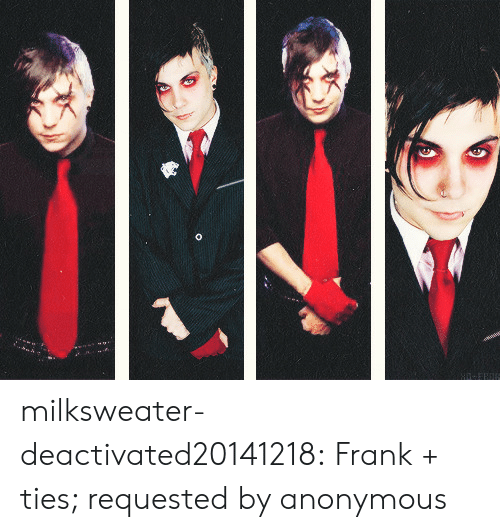 Ties: milksweater-deactivated20141218: Frank + ties; requested by anonymous