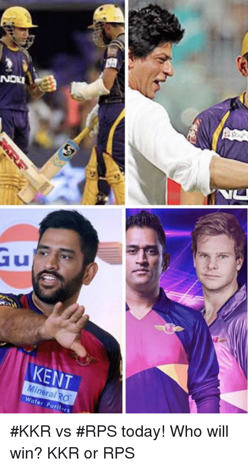 tali: Mineral RO  Puritars  TALI #KKR vs #RPS today! Who will win? KKR or RPS