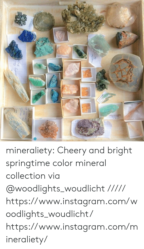 Springtime: mineraliety: Cheery and bright springtime color mineral collection via @woodlights_woudlicht ///// https://www.instagram.com/woodlights_woudlicht/ https://www.instagram.com/mineraliety/