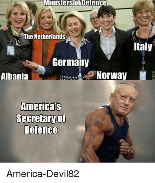 Albania: Ministers Defence  The Netherlands  Italy  Germany  Norway  Albania  America's  Secretaryof  Defence America-Devil82