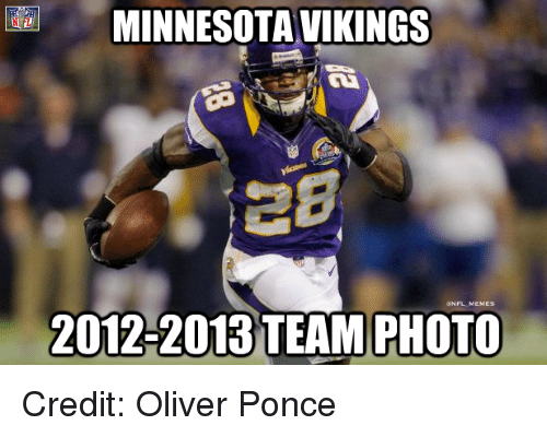 Minnesota Vikings: MINNESOTA VIKINGS  ONFLMEMES  2012-2013 TEAM PHOTO Credit: Oliver Ponce