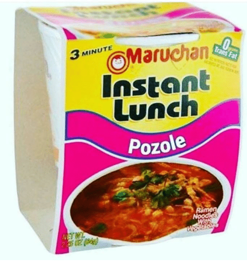 Pozole: MINUTE  3 Instant  Lunch  Pozole  men  Nood