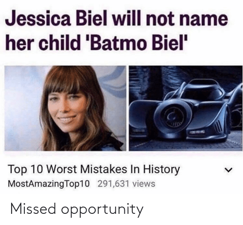 Opportunity: Missed opportunity