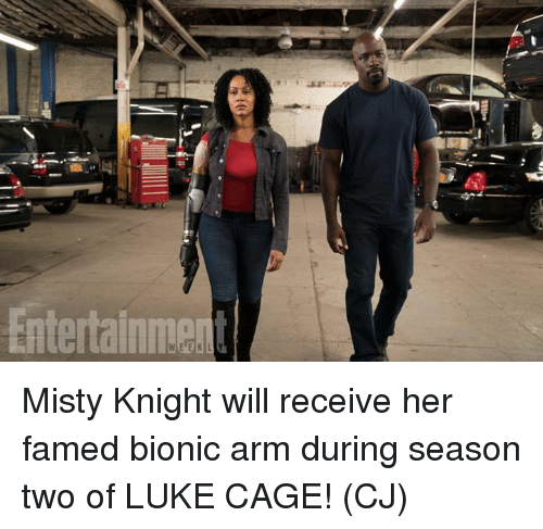 caging: Misty Knight will receive her famed bionic arm during season two of LUKE CAGE!  (CJ)