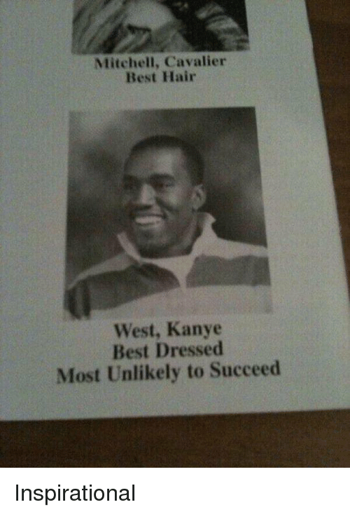 Cavaliers: Mitchell, Cavalier  Best Hair  West, Kanye  Best Dressed  Most Unlikely to Succeed Inspirational