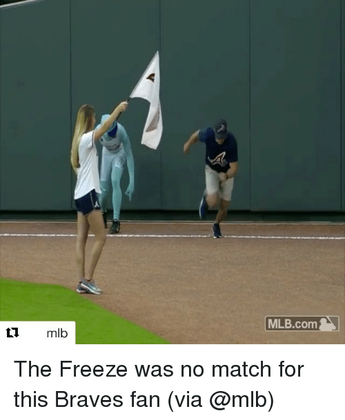 Braves: mlb  MLB.com The Freeze was no match for this Braves fan (via @mlb)