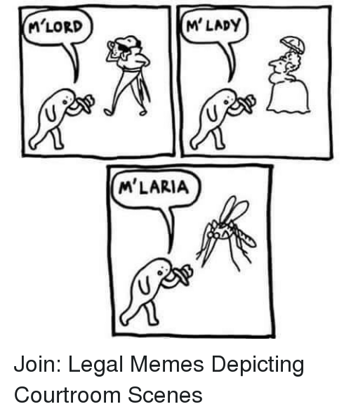 mlady: M'LORD  M'LADY  M'LARIA Join: Legal Memes Depicting Courtroom Scenes