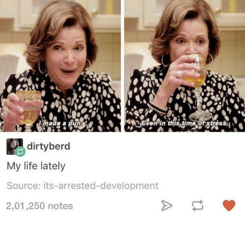 arrested development: Mmad6 a pun  P dirty berd  My life lately  Source: its-arrested-development  2,01,250 notes