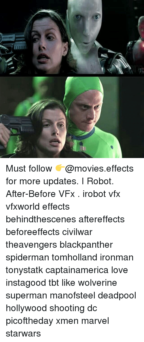 irobot: mmi Must follow 👉@movies.effects for more updates. I Robot. After-Before VFx . irobot vfx vfxworld effects behindthescenes aftereffects beforeeffects civilwar theavengers blackpanther spiderman tomholland ironman tonystatk captainamerica love instagood tbt like wolverine superman manofsteel deadpool hollywood shooting dc picoftheday xmen marvel starwars