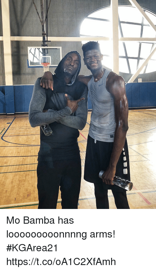 Memes, 🤖, and Arms: Mo Bamba has looooooooonnnng arms! #KGArea21 https://t.co/oA1C2XfAmh