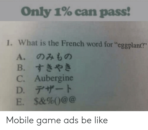 Mobile: Mobile game ads be like
