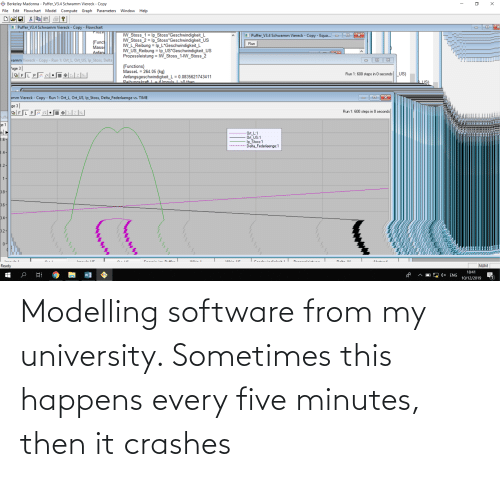 modelling: Modelling software from my university. Sometimes this happens every five minutes, then it crashes