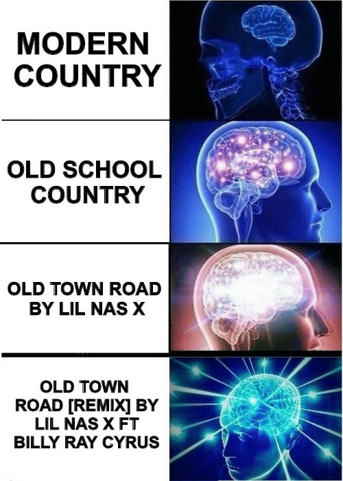 remix: MODERN  COUNTRY  OLD SCHOOL  COUNTRY  OLD TOWN ROAD  BY LIL NAS X  OLD TOWN  ROAD [REMIX] BY  LIL NAS X FT  BILLY RAY CYRUS