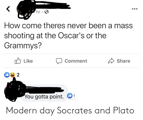 Plato, Socrates, and Day: Modern day Socrates and Plato