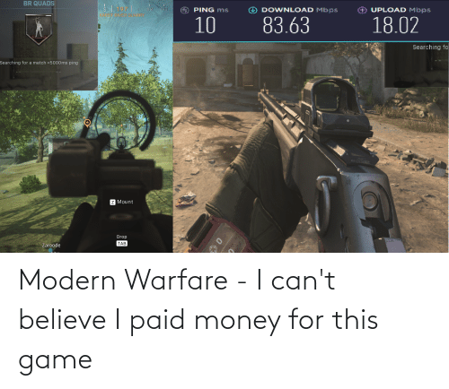 modern warfare: Modern Warfare - I can't believe I paid money for this game