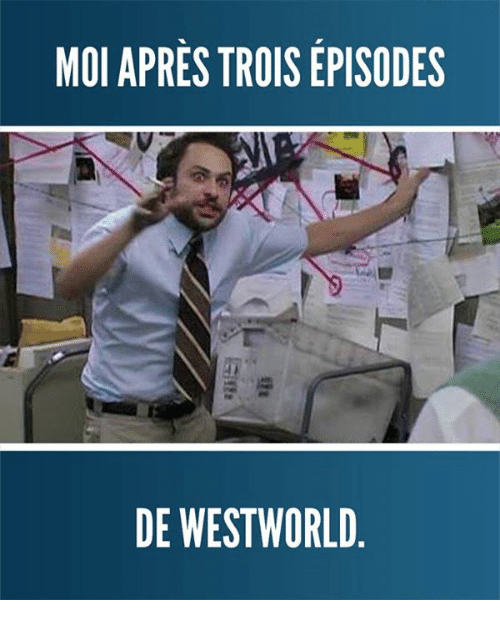west world: MOI APRES TROIS EPISODES  DE WEST WORLD
