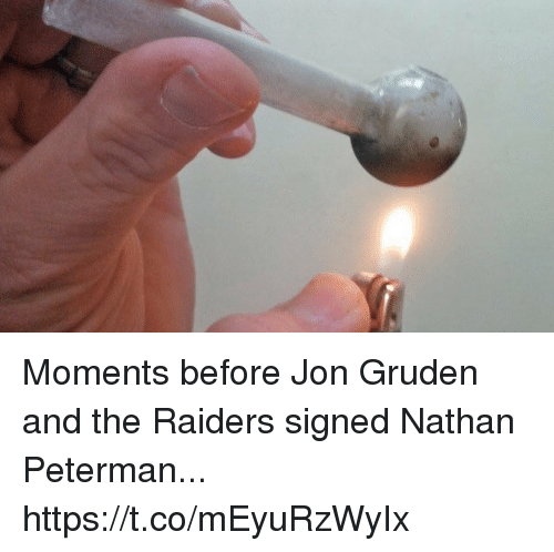Jon Gruden: Moments before Jon Gruden and the Raiders signed Nathan Peterman... https://t.co/mEyuRzWyIx