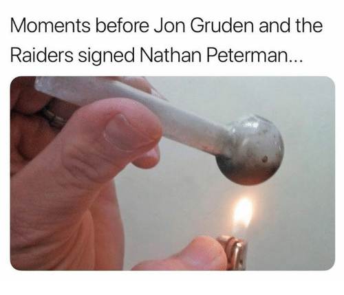 Jon Gruden: Moments before Jon Gruden and the  Raiders signed Nathan Peterman...