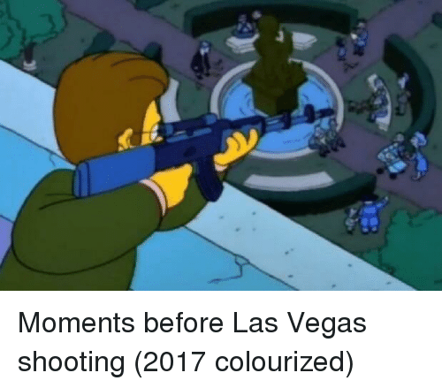 Colourized: Moments before Las Vegas shooting (2017 colourized)