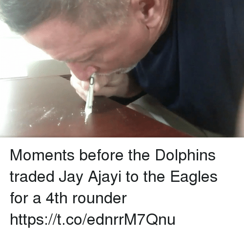 Philadelphia Eagles, Football, and Jay: Moments before the Dolphins traded Jay Ajayi to the Eagles for a 4th rounder https://t.co/ednrrM7Qnu