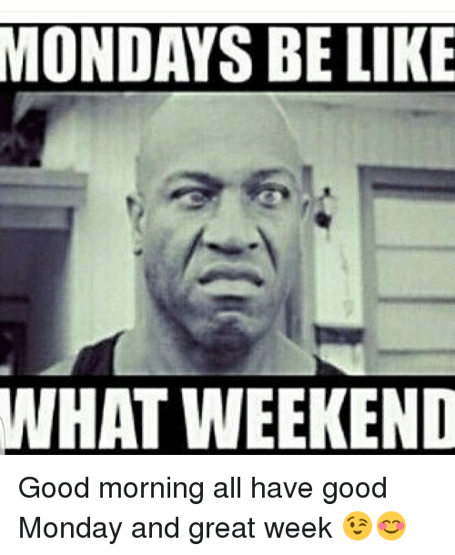 mondays be like what weekend good morning all have good 20262084 🔥 25 best memes about mondays and good morning mondays and,Good Monday Morning Meme