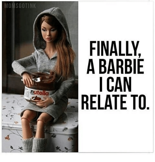 barbi: MONSGOTINK  A A BARBIE  I CAN  nute  RELATE TO