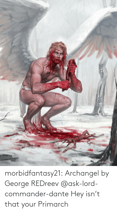 George: morbidfantasy21:  Archangel by George REDreev     @ask-lord-commander-dante Hey isn't that your Primarch