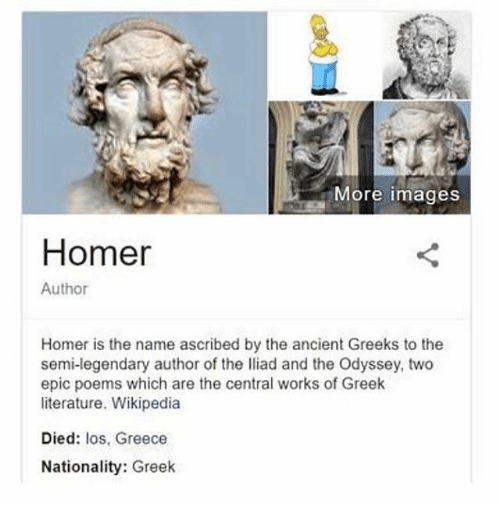 an analysis of the everday life of the greeks in the epic poems the iliad and the odyssey by homer Set in mythic times when the gods intervened in the every day lives of the greeks homer - the iliad by homer written in 44 bc odyssey by homer the.