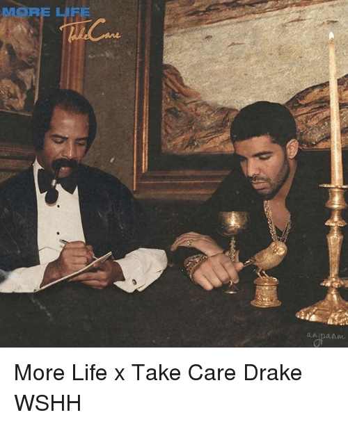 more more life x take care drake wshh meme on sizzle. Black Bedroom Furniture Sets. Home Design Ideas