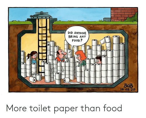 toilet: More toilet paper than food