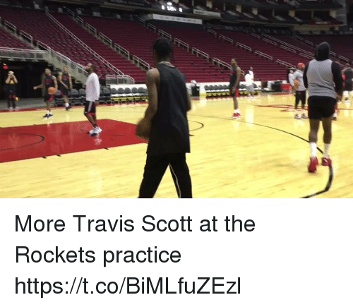 Memes, Travis Scott, and 🤖: More Travis Scott at the Rockets practice  https://t.co/BiMLfuZEzl