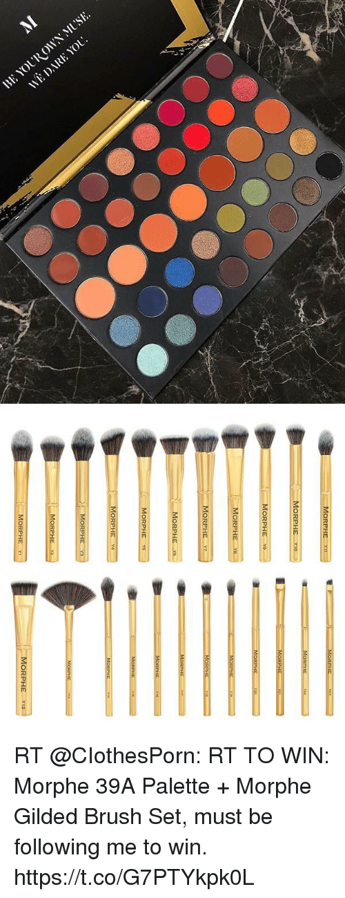 Morphe: MORPHE  MORPHE YI  MORPHE  MORPHE  MORPHE-x  MORPHE  ORPH  MORPHE  MORPHE  MORPHE YS  MORPHE  Y3  MORPH  MORPHE Y2  MORPHE YI2  MORPHEY RT @CIothesPorn: RT TO WIN: Morphe 39A Palette + Morphe Gilded Brush Set, must be following me to win. https://t.co/G7PTYkpk0L