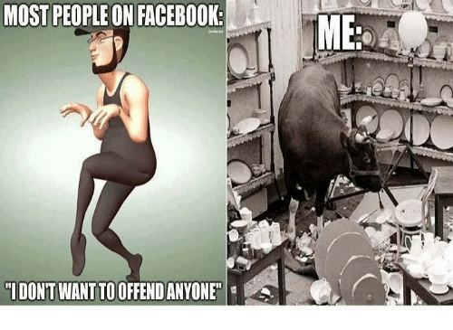 """Dank, Facebook, and 🤖: MOST PEOPLE ON FACEBOOK  MB  """"IDONT WANT TO OFFENDANYONE"""""""