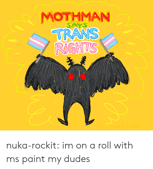 ms paint: MOTHMAN nuka-rockit:  im on a roll with ms paint my dudes