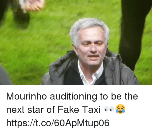 Fake, Soccer, and Star: Mourinho auditioning to be the next star of Fake Taxi 👀😂 https://t.co/60ApMtup06