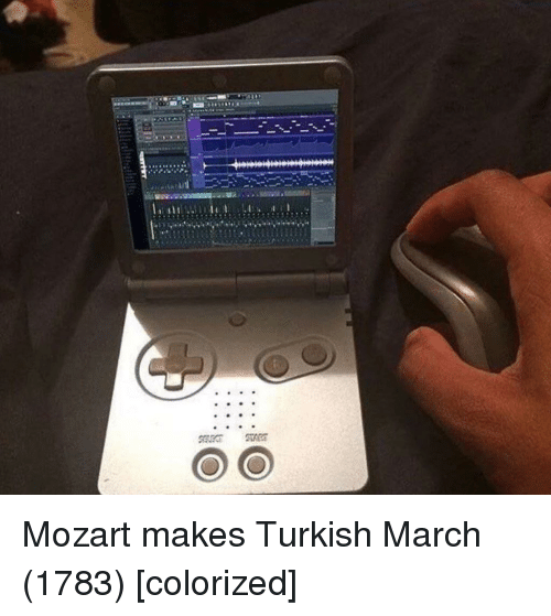 turkish: Mozart makes Turkish March (1783) [colorized]